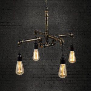 Lámpara de estilo industrial tubo de hierro