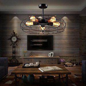 Lámpara estilo industrial colgante de ventilador
