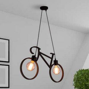 Lámpara industrial colgante de bicicleta