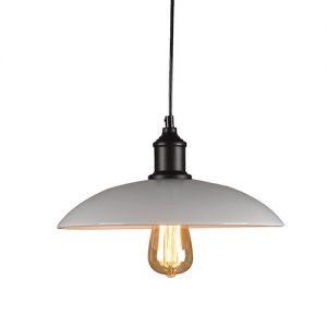 Lámpara tipo industrial de metal blanca
