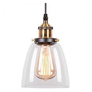 Lámpara industrial con pantalla de cristal