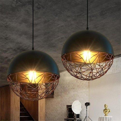 Lámpara industrial de hierro forjado