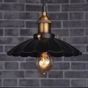 Lámpara tipo industrial en forma de paragüas