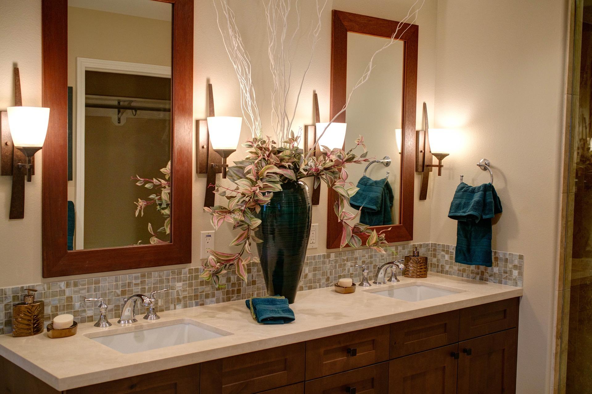 lampara espejo baño